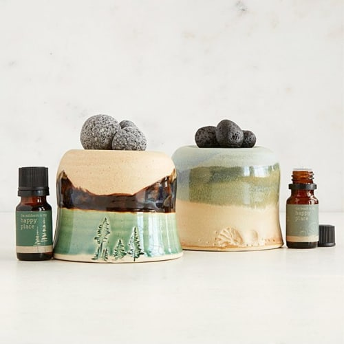 Happy Place Diffuser with Lava Rocks | Wellness Gift Ideas