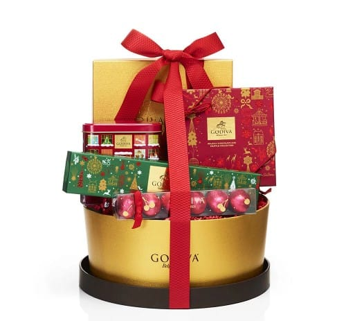 Godiva Home For The Holidays Chocolate Gift Basket