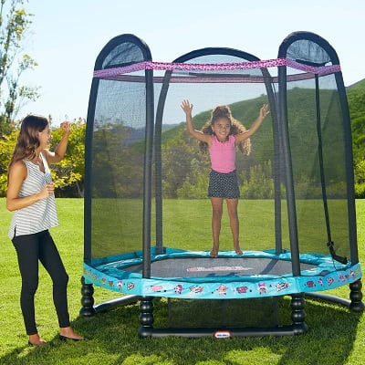 L.O.L. Surprise! 7.3' Octagon Trampoline with Safety Enclosure