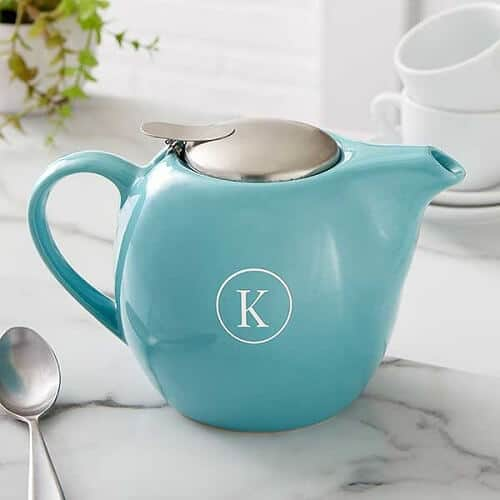 Personalized 30 oz. Turquoise Teapot