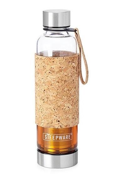 Portable Tea Tumbler with Cork Sleeve