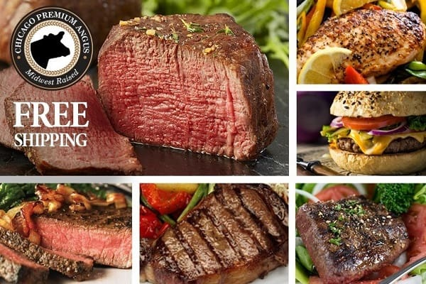Premium Angus Beef Chicago Steak Sampler