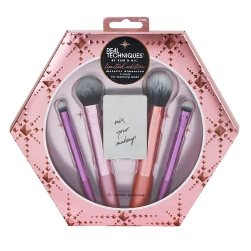 Real Techniques Metallic Dimension Makeup Brush Holiday Set