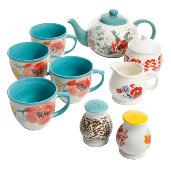 The Pioneer Woman 11-Piece Collected Tea Set | Tea Lover Gifts