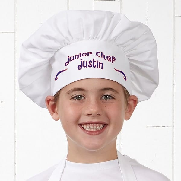 Junior Chef Personalized Chef Hat - Gifts for Young Chefs