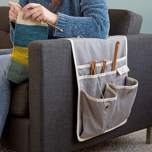 Knitting Gift Ideas - Couch Arm Knitting Caddy