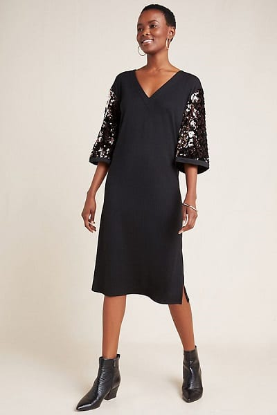 Sparkly New Years Eve Dresses - Ariel Sequined Midi Dress