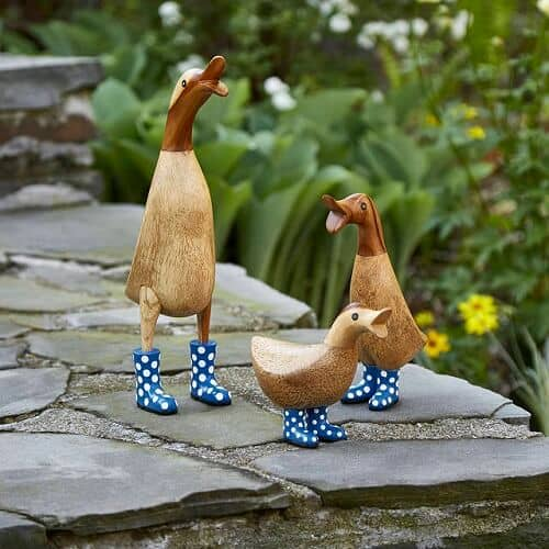 Spotted Wellies Garden Ducks