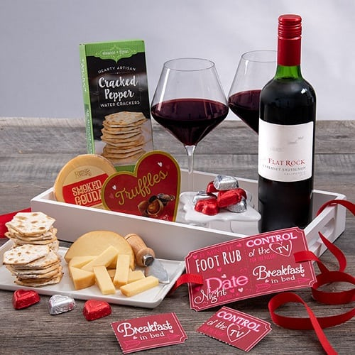 An Evening Of Romance Gift Basket