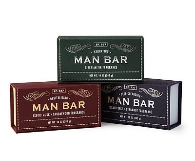 Man Bar Soap Set of 3 - Grooming Gifts for Men