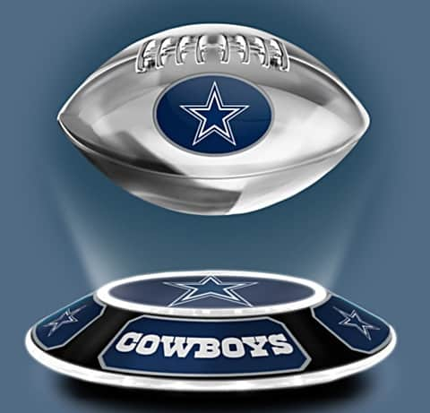 Cowboys Levitating Football Lights Up And Spins