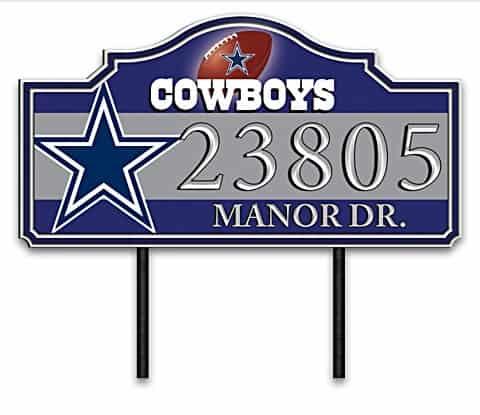 Dallas Cowboys Personalized Outdoor Address Sign