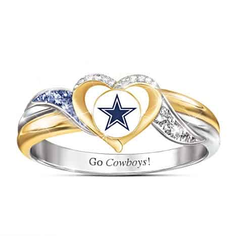 Dallas Cowboys Pride Ring With Team-Color Crystals