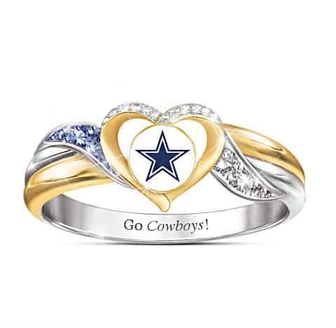 Dallas Cowboys Pride Ring With Team-Color Crystals
