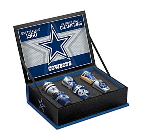 Dallas Cowboys Six-Piece Shot Glass Gift Set With Box