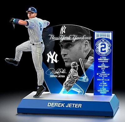 Derek Jeter Lighted Tribute Sculpture