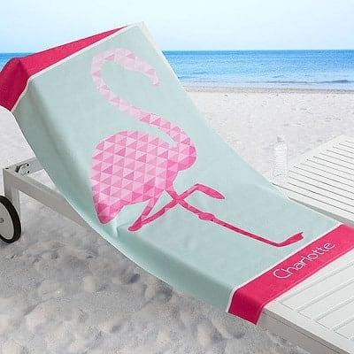 Flamingo Personalized 30x60 Beach Towel