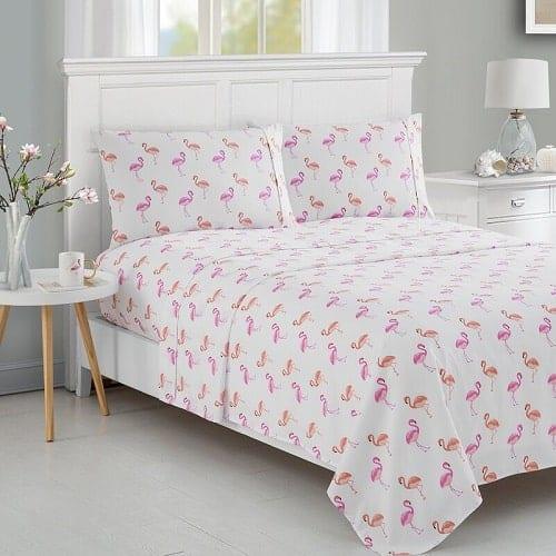 Flamingo Printed Sheet Set