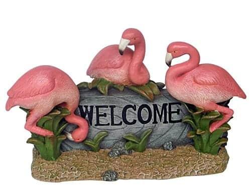 Flamingo Welcome Statue