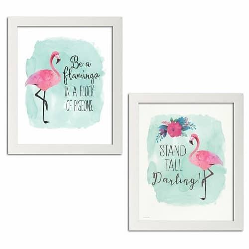 Framed Flamingo Print