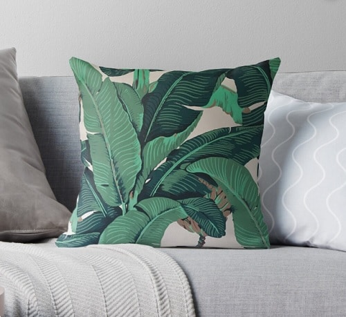 Golden Girls Banana Leaf Style Pillow Throw Pillow