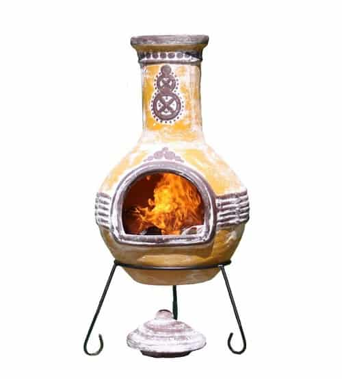 Harward Clay Wood Burning Chiminea