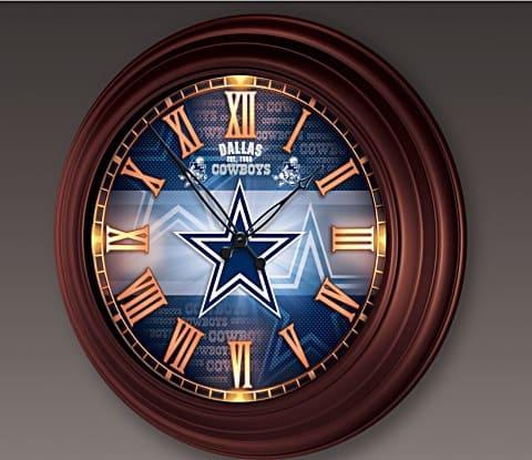 Dallas Cowboys Illuminated Atomic Wall Clock