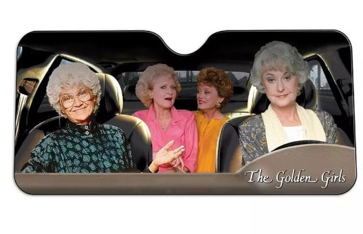 Just Funky Golden Girls Car Windshield Sun Shade