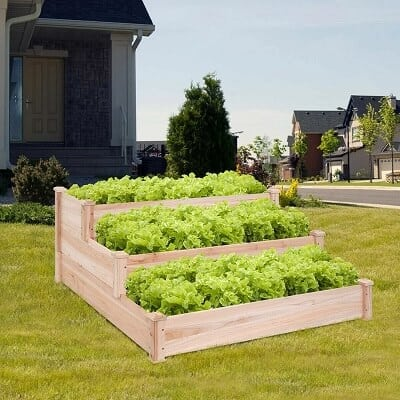 Natural Cedar Wood Raised Garden Bed