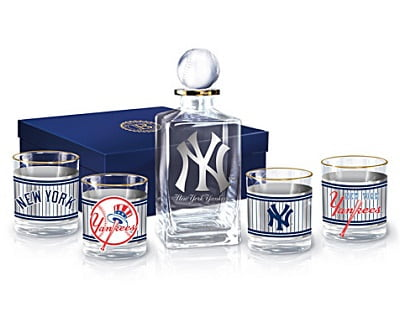 New York Yankees 5-Piece Decanter And Glasses Set