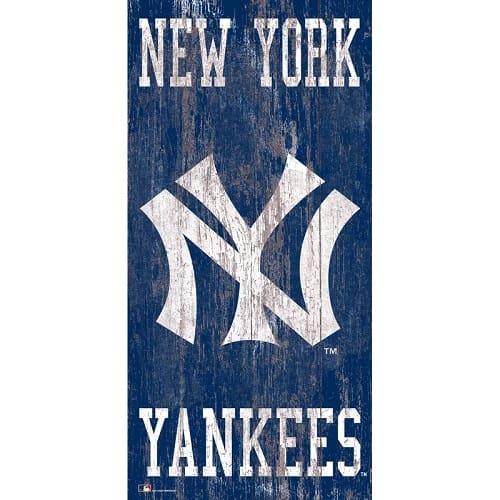 New York Yankees Graphic Art Print on Wood
