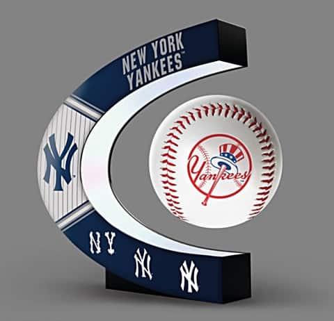 New York Yankees Levitating Baseball Lights Up And Spins