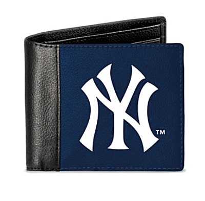 New York Yankees Men's RFID Blocking Leather Wallet