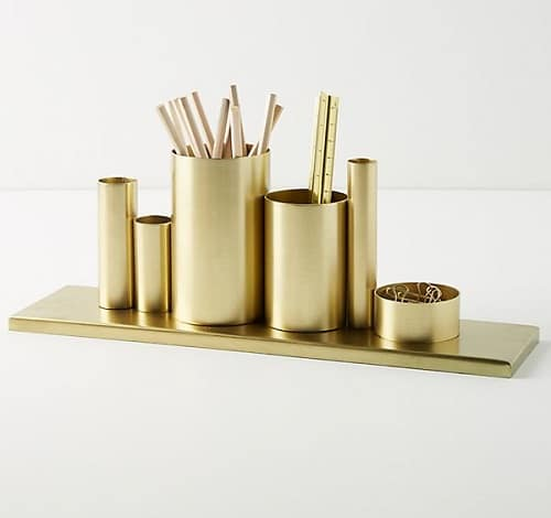 Pencil Holder Gold