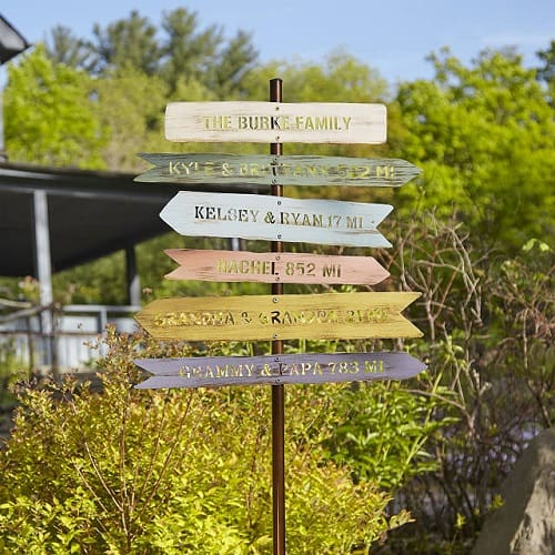 Personalized Family Member Signpost - Garden Decor Gift Idea