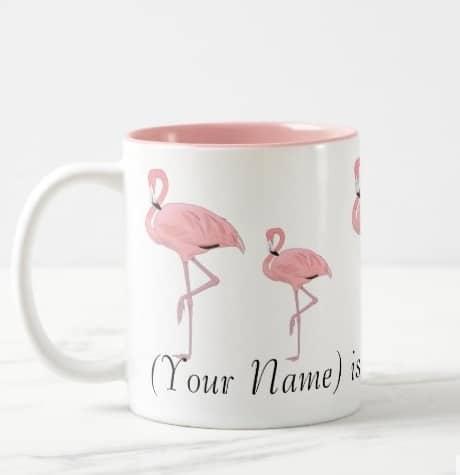 Personalized Flamingo Coffee Mug - Flamingo Gift Ideas
