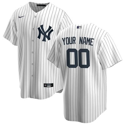 Personalized New York Yankees Nike Home Replica Jersey