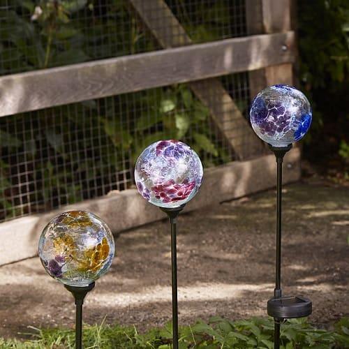 Solar Light Garden Stake - Flower Globes