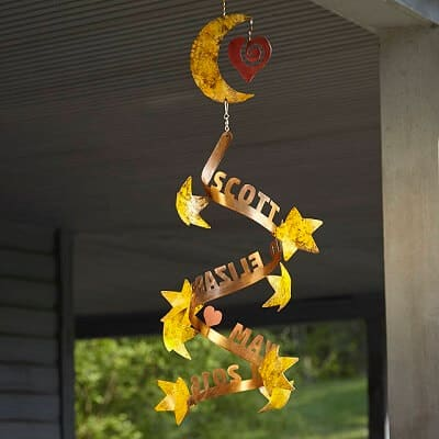 Stars Align Personalized Wind Sculpture - Green Thumb Gift Ideas