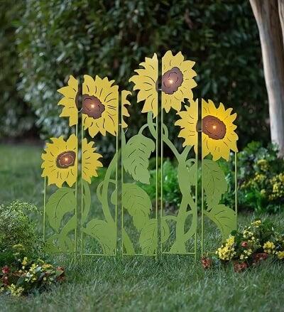 Sunflower Garden Lighted Landscape