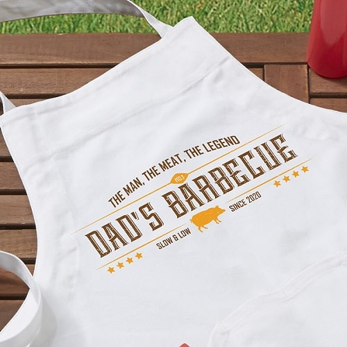 The Man, The Meat, The Legend Personalized Apron