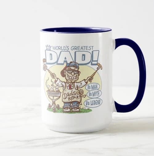 World's Greatest Dad Father's Day BBQ Gear Mug