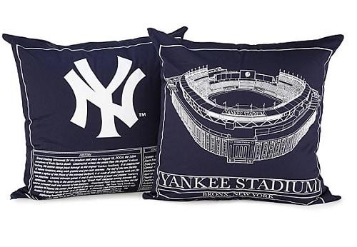 Yankee Stadium Blueprint Pillow