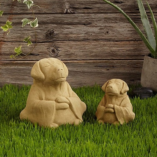 Zen Dog Garden Sculpture
