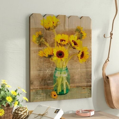 Country Sunflowers Wall Art