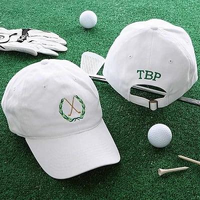 Golf Personalized Black Cap