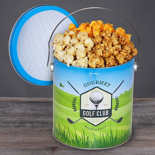 Golf Popcorn Tin - Unique Golf Gifts for Men
