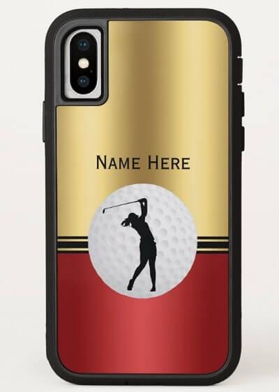 Golf Themed Elegant Phone Case for Women