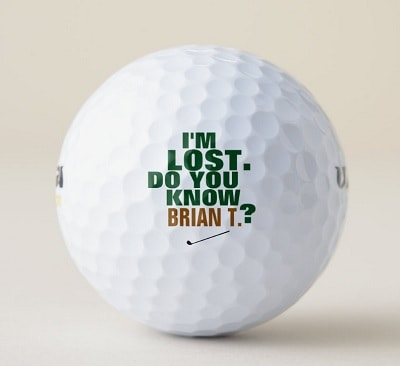 Golfer Lost-Golf Balls