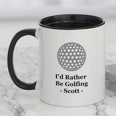 Rather Be Golfing Personalized Coffee Mug